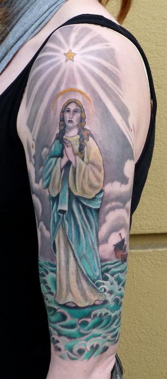 Ziguri#tattoo#berlin#schöneberg##maria#seefahrt#